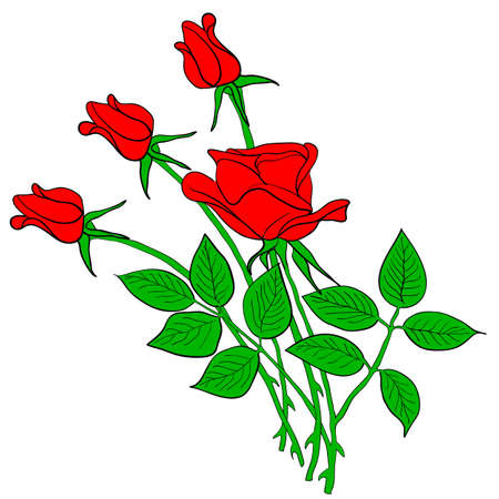 tattoo rose flower Vector