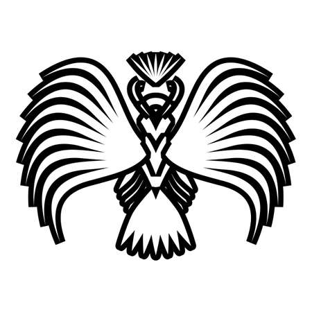 Eagle symbols and tattoo, vector illustration. Vector
