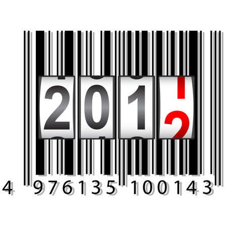 2012 New Year counter, barcode, vector. Vector