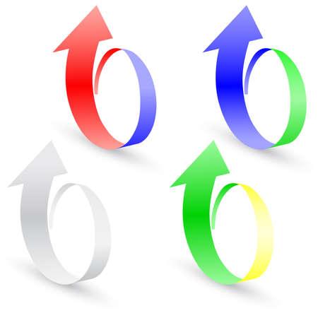 Origami set arrow paper,  vector illustration. Vector