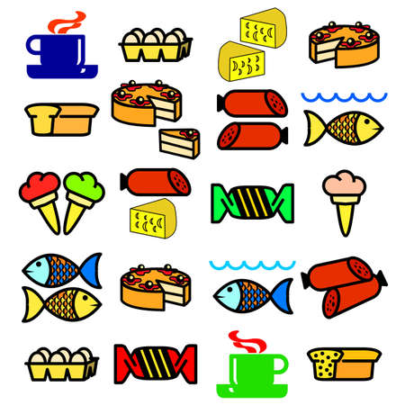 Vector set of food. Vector