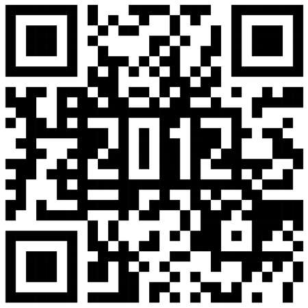 2012 New Year counter, QR code vector.