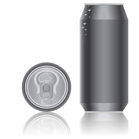 food and drink industry: Imballaggi in alluminio per bevande. Vector.