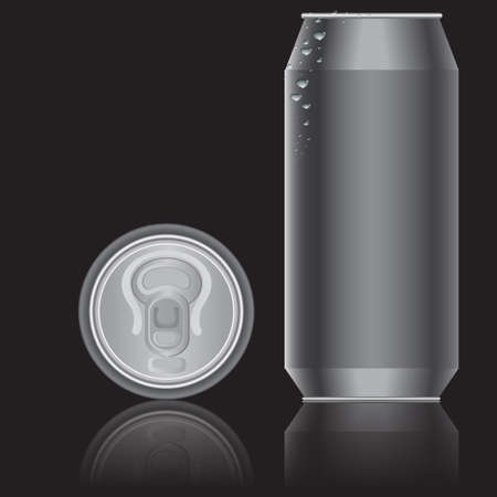 beer can: Aluminum packaging for beverages. Vector.