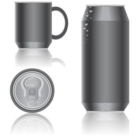 Aluminum packaging for beverages. Vector. Vector