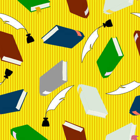 seamless wallpaper, hardcover books  for education concept. Stock Vector - 11582729