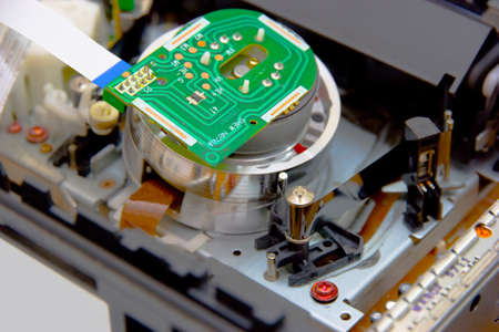 vcr: electronic spare part head VCR Stock Photo