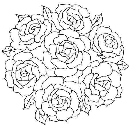 Groot boeket rozen. vector