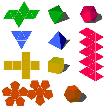 colorfull: colorfull 3d geometric shapes