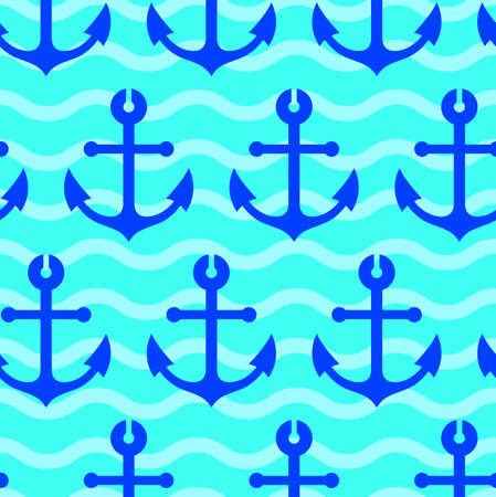 seamless wallpaper with sea anchors Stock Vector - 11930989