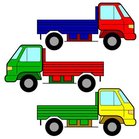 mode of transport: Set of icons - transportation symbols. Illustration
