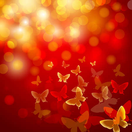 Abstract colourful background with butterflies. Vector. Vector