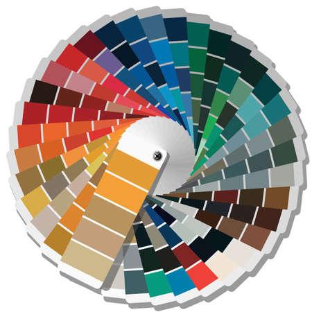 sampler: Color de gu�a de la paleta para la industria de la impresi�n. Ilustraci�n del vector.