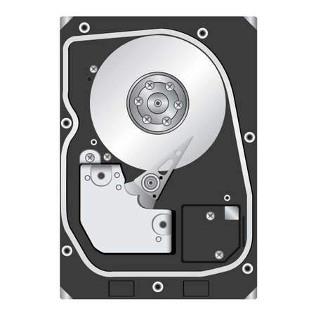 Computer hard disk drive. Vector illustration. Vector