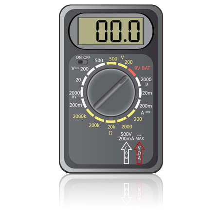 Digital multimeter. Vector illustration. Isolated on white background. Stock Vector - 12481781
