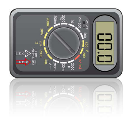 Digital multimeter. Vector illustration. Isolated on white background. Vector