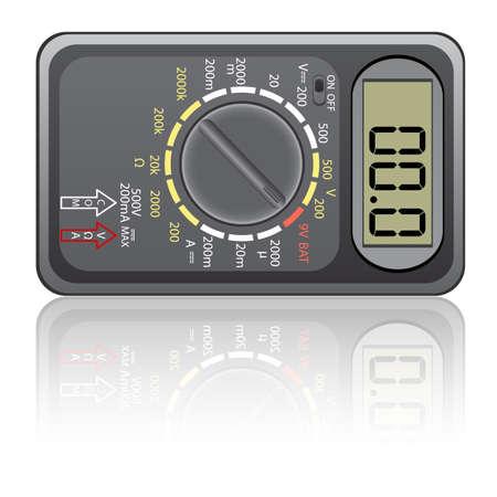 Digital multimeter. Vector illustration. Isolated on white background. Stock Vector - 12481791