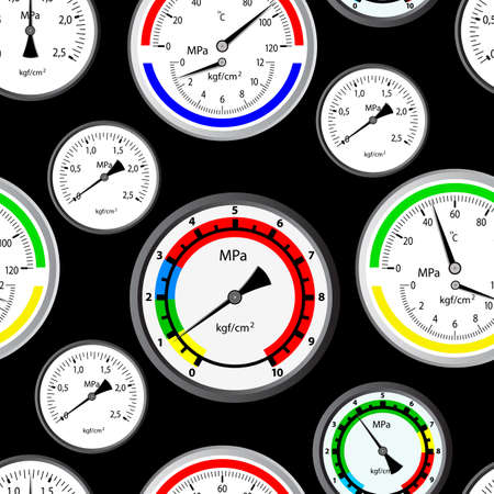 manometer: Seamless wallpaper the gas manometer vector background