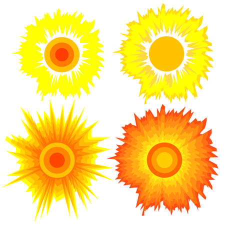 Set of suns  Elements for design  Stock Vector - 12481848
