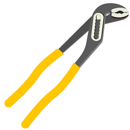 metalworker: Instrumment pliers on a white background, vector illustration