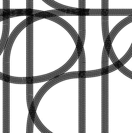 Seamless wallpaper winter tire tracks pattern illustration vector background Stock Vector - 12481648