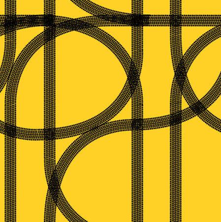 Seamless wallpaper winter tire tracks pattern illustration vector background Stock Vector - 12481649