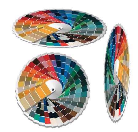 guides: Color palette guide for printing industry  Vector illustration  Illustration