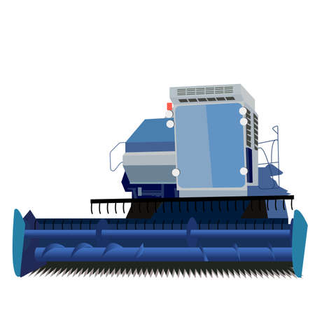 combine harvester on a white background Stock Vector - 12919302