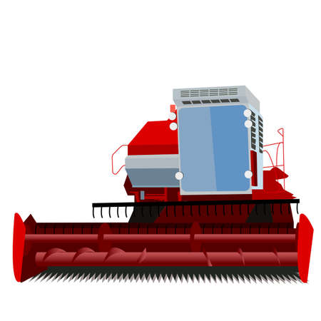 combine harvester on a white background Stock Vector - 12919305