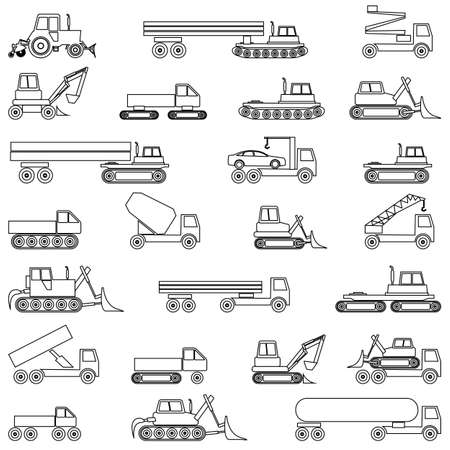 Cars, vehicles. Car body. Special cars  technique. Stock Vector - 12919308