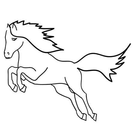 Vector version  Black horse silhouette isolated on white for design Stock Vector - 12919292