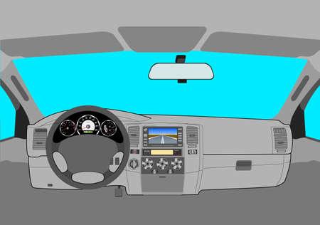 Auto cockpit straße  Auto Innen Lizenzfreie Vektorgrafiken Kaufen: 123RF