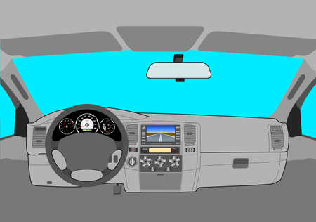 El coche sin conductor en la carretera