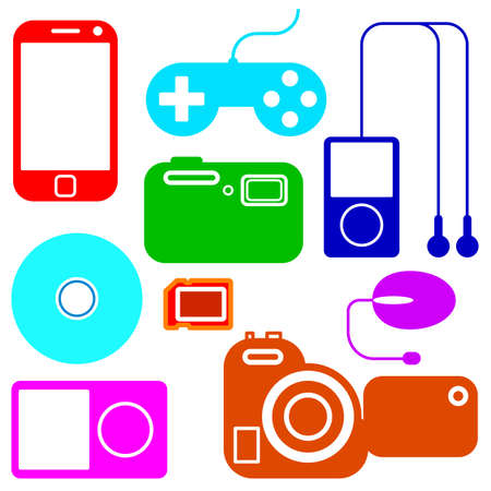 Icon set of electronic gadgets Stock Vector - 12919329