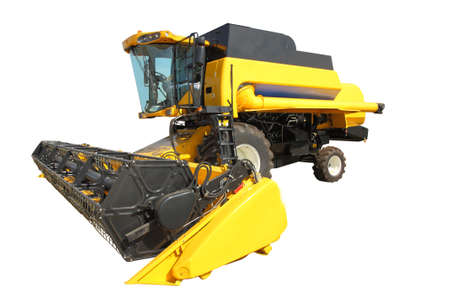 combine harvester on a white background photo