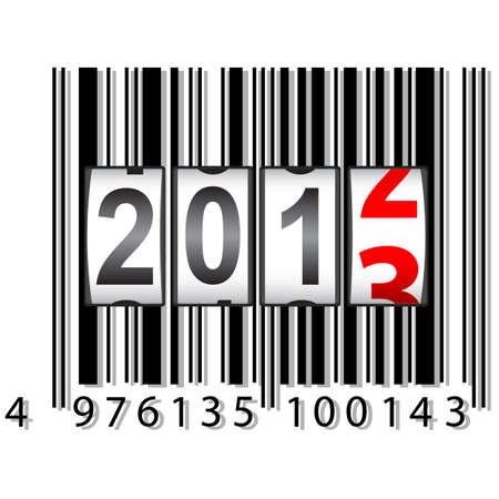 2013 New Year counter, barcode, vector. Vector