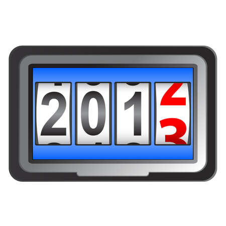 2013 New Year counter, vector. Stock Vector - 13084635