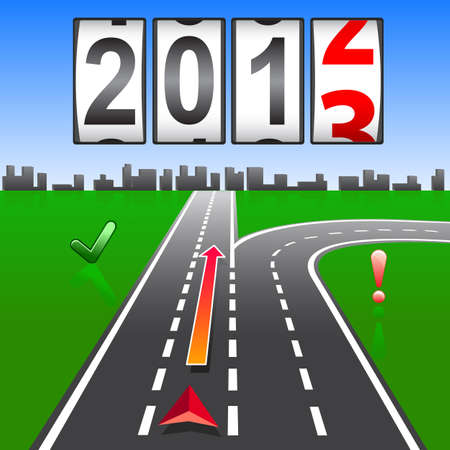 2013 New Year counter, vector  Illustration