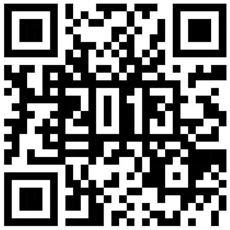 2013 New Year counter, QR code Vector