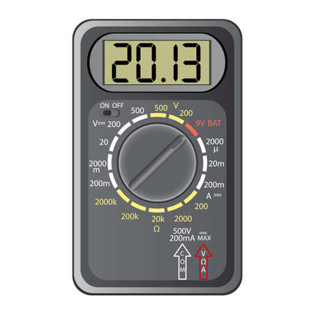 2013 New Year Multimeter  on a white background, vector  Vector