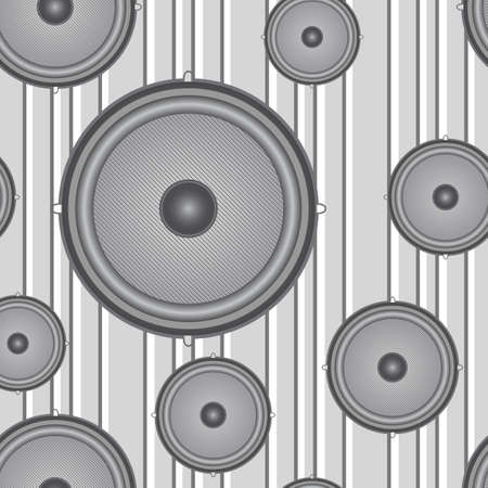 sub woofer: Speakers seamless background illustration