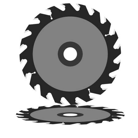 Circular saw blade on a white background  Vector illustration