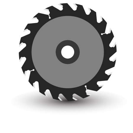 dangerous construction: Circular saw blade on a white background  Vector illustration