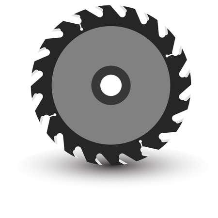 Hojas de sierra circular en una ilustración de fondo vector