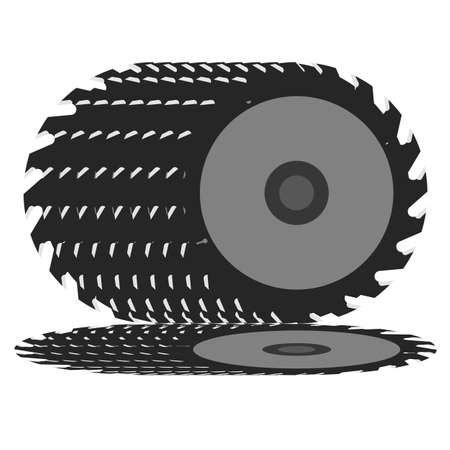 Circular saw blade on a white background  Vector illustration  Vector