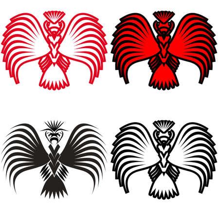 Eagle symbols and tattoo illustration. Stock Vector - 13321101