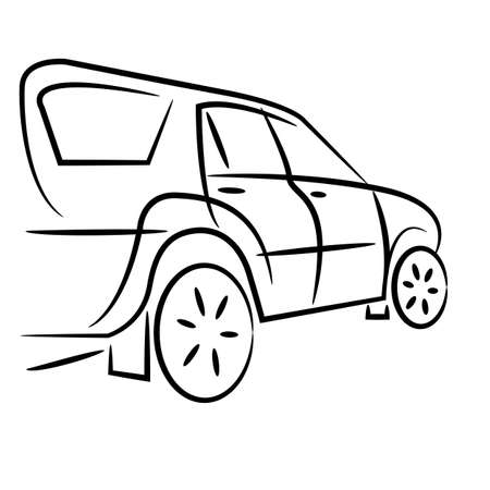 Silhouette of suv car for  design   Vector
