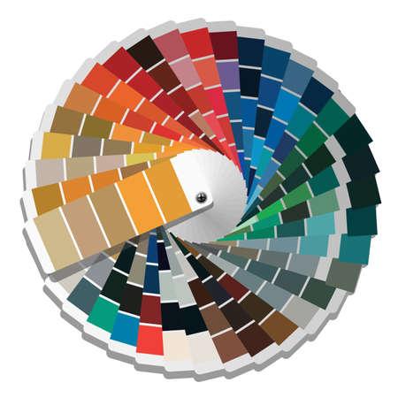 color swatch book: Color palette guide.