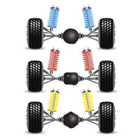 gearing: Set rear suspension car with different gearing  Illustration