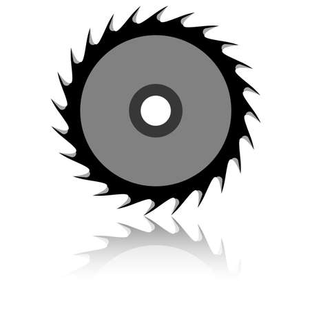 Circular saw blade on a white background  Vector